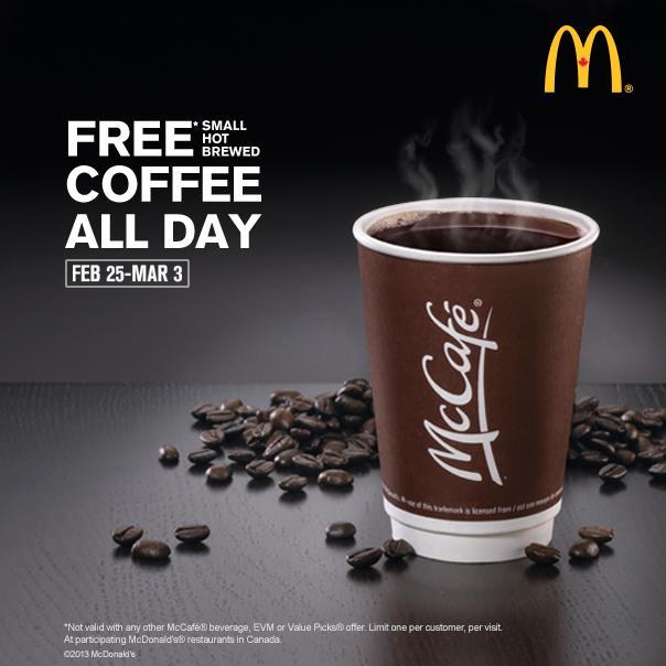 麦当劳咖啡杯子_麦当劳全天免费小咖啡