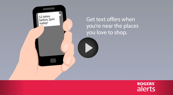 Rogers手機用戶登記Rogers Alert可在帳單節省$5