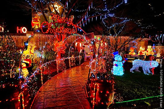 大溫哥華地區聖誕燈飾2013