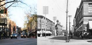 温哥华煤气镇照片今昔对比