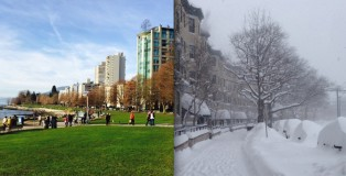風和日麗的溫哥華 VS 漫天風雪的多倫多