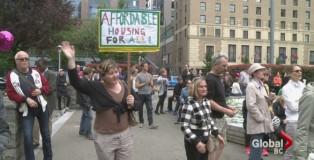 大溫置業難負擔數百人示威促遏抑樓價