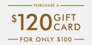 Glowbal集团推出优惠 $120礼物卡只需100元