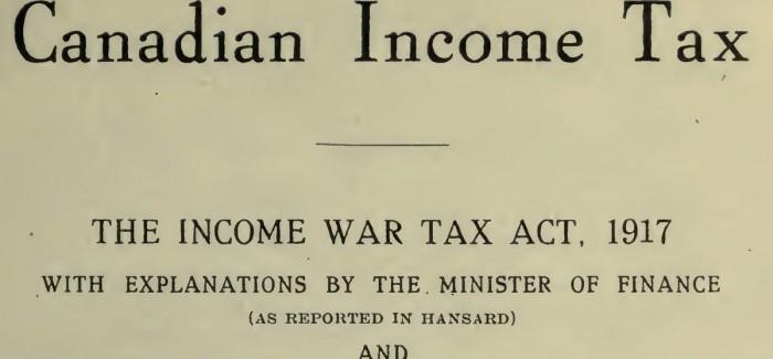 【硬知识】 加拿大个人所得税百年增长300倍 真心万万税了